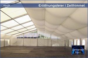 Eröffnungsfeier im Zelt Zeltverleih Oberbayern