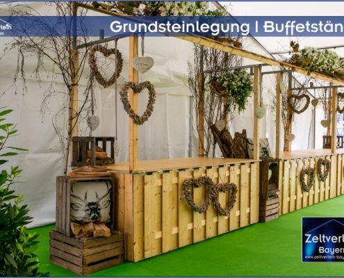 Grundsteinlegung Zeltverleih Oberbayern