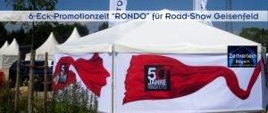 Promotionzelt von Zeltverleih Oberbayern und Pfaffenhofen