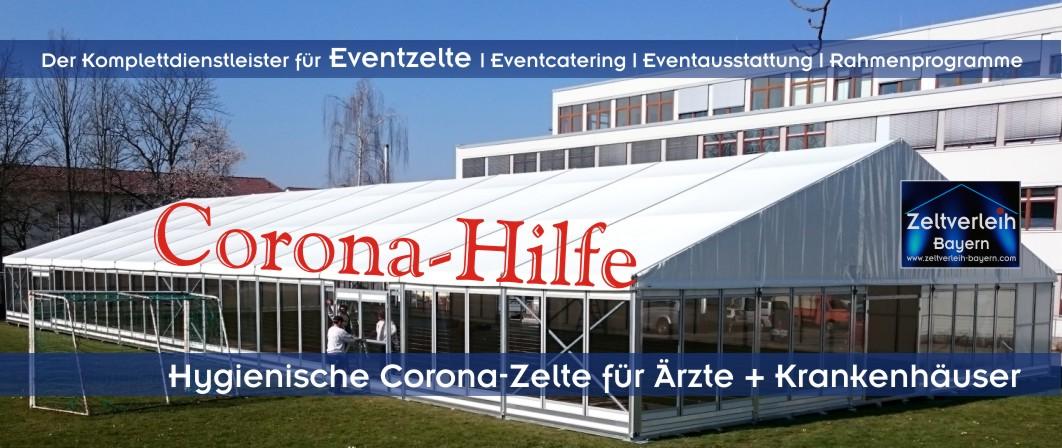 Corona Zeltverleih in Oberbayern, Niederbayern, Oberpfalz, Schwaben und Allgäu