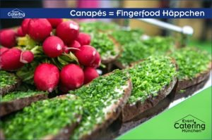 Canapés Fingerfood Häppchen von Catering Oberbayern