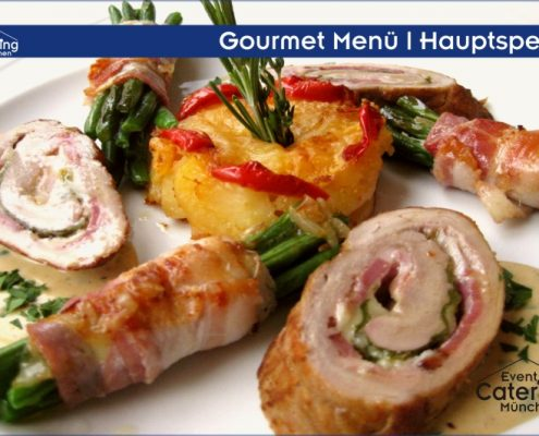 Gourmet Menü Hauptspeise Catering Oberbayern